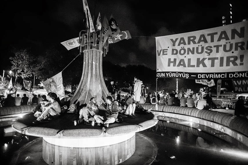 Protesters demonstrate in the Gezi Park, Istanbul, 16/06/2013