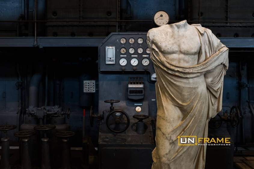 Statue of Asclepius, Centrale Montemartini, Hall of the Machines