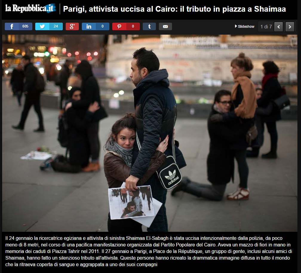 Shaimaa Paris manifestation