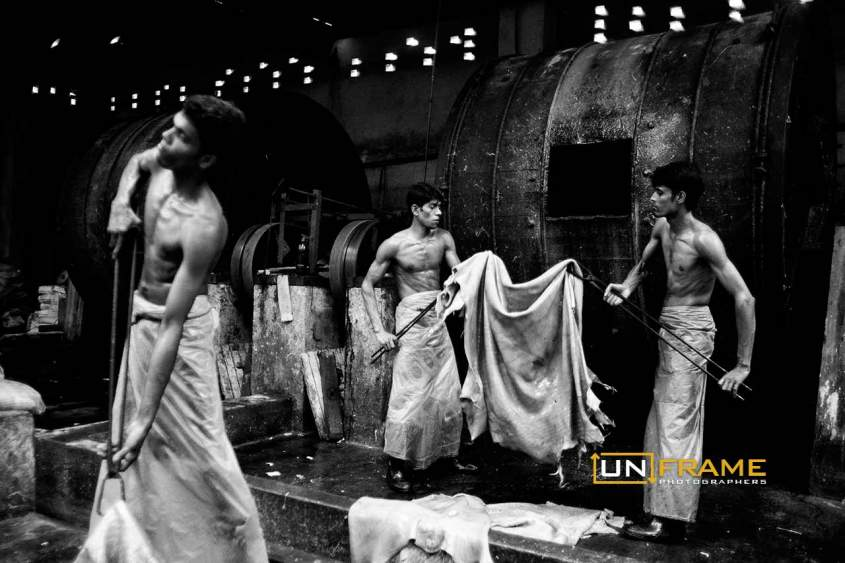workers in a tannery Bangladesh